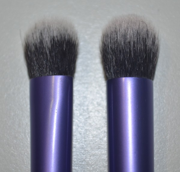 Left: Domed Shadow Brush. Right: Deluxe Crease Brush.