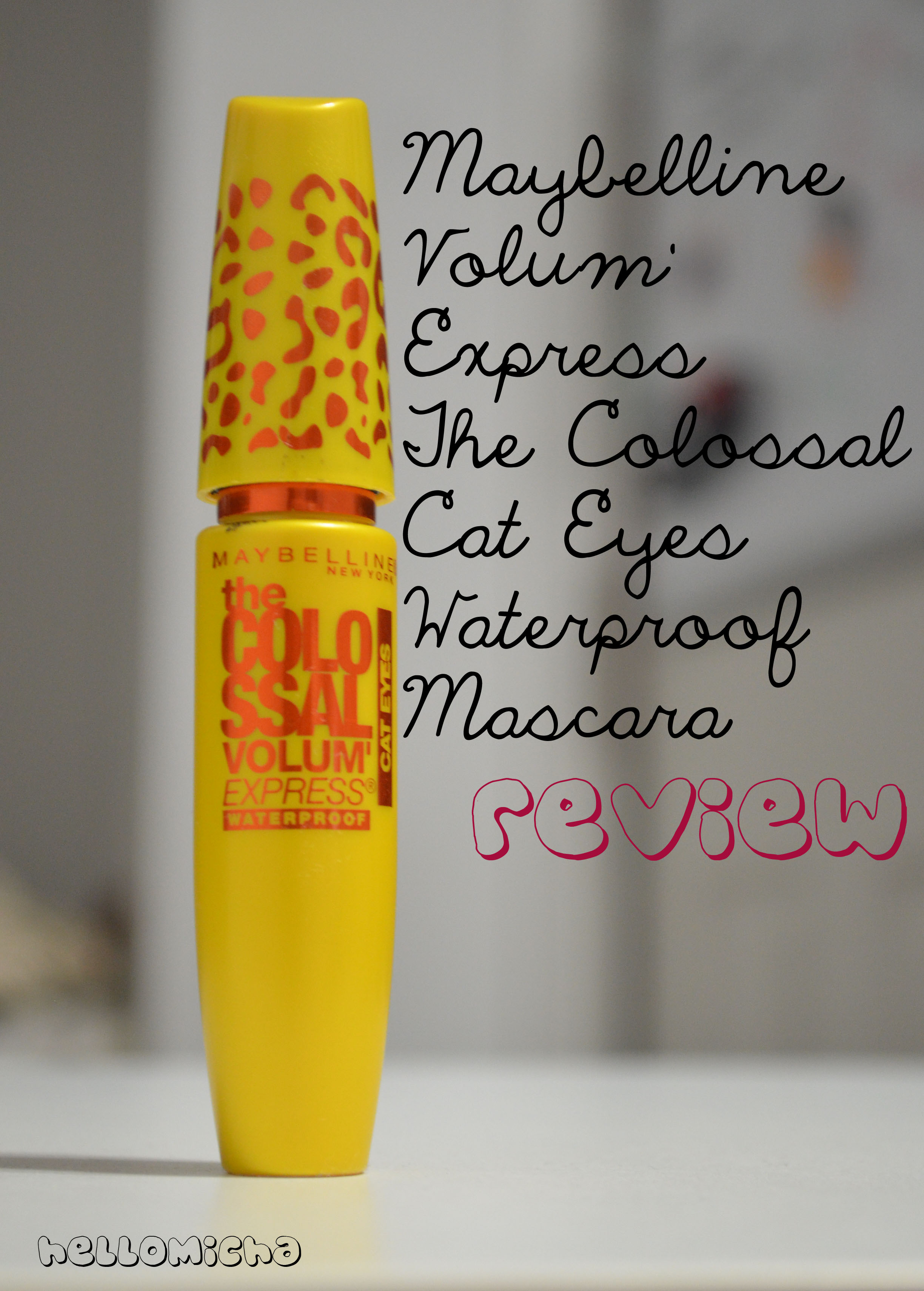 06f61c7224f Flash Review: Maybelline Volum' Express The Colossal Cat Eyes Waterproof  Mascara.
